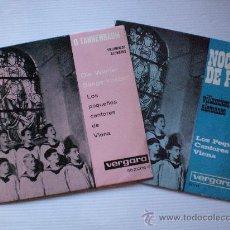 Discos de vinilo: VILLANCICOS ALEMANES, PEQUEÑOS CANTORES DE VIENA, LOTE 2 EPS. VERGARA 1961, SEMINUEVOS. Lote 29389338