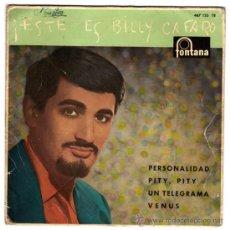 Discos de vinilo: BILLY CAFARO - ESTE ES BILLY CAFARO - EP SPAIN 1960 - FONTANA 467 135 TE. Lote 29392287