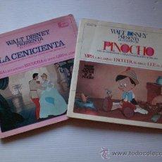 Discos de vinilo: CUENTOS LA CENICIENTA Y PINOCHO LOTE 2 DISCO CON LIBRO ILUSTRADO 18 PAGINAS AÑO 1967 VER MAS DETALL. Lote 29395038