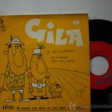 Discos de vinilo: GILA, ES EL ENEMIGO, EP ODEON 1958, EXCELENTE ESTADO EN LIQUIDACION. Lote 29404897