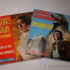 Discos de vinilo: ANDRES CAPARROS, DOLORES VARGAS, AY GAVILAN, A CHI LI PU, LOTE 2 SINGLES EXCELENTE ESTADO. Lote 29405517