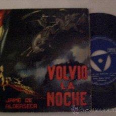 Discos de vinilo: JAIME ALDEASECA, VOLVIO LA NOCHE, RECITAL EN PROSA,EP COLUMBIA 1961, EXCELENTE ESTADO, RAREZA OFERTA. Lote 29407009