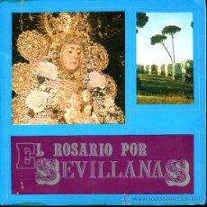 Discos de vinilo: EL PUEBLO DE GINES - EL ROSARIO POR SEVILLANAS - EP 1969 - PORTADA DOBLE. Lote 36899485