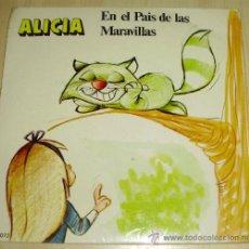 Discos de vinilo: - DISCO CUENTO ALICIA EN EL PAIS DE LAS MARAVILLAS - EDITADO EN 1.971 . Lote 29412030