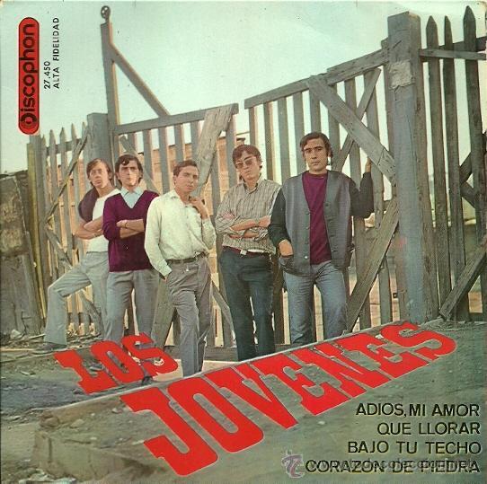 LOS JOVENES EP SELLO DISCOPHON AÑO 1965 EDICCIÓN ESPAÑOLA. (Música - Discos de Vinilo - EPs - Grupos Españoles 50 y 60)