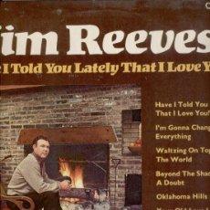 Discos de vinilo: JIM REEVES - TEMAS EN CONTRAPORTADA - LP . Lote 29440477