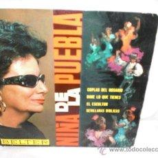 Discos de vinilo: NIÑA DE LA PUEBLA-EP-COPLAS DEL ROSARIO+3. Lote 29442809