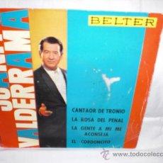Discos de vinilo: JUANITO VALDERRAMA-EP-CANTAOR DE TRONIO+3. Lote 29443102