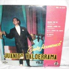 Discos de vinilo: JUANITO VALDERRAMA-EP-DELIRAS POR MI+3. Lote 29443171