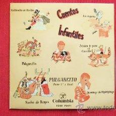 Discos de vinilo: CUENTOS INFANTILES - PULGARCITO. Lote 29532857