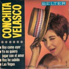 Discos de vinilo: CONCHITA VELASCO - HOY COMO AYER + 3 (EP DE 4 CANCIONES) BELTER 1966 - EX/EX. Lote 29448628