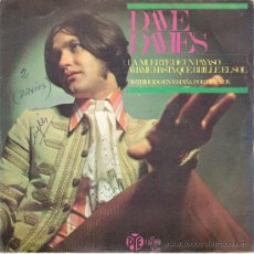 Discos de vinilo: DAVE DAVIES (THE KINKS) - DEATH OF A CLOWN / LOVE ME TILL THE SUN SHINES (45 RPM) HISPAVOX 1967. Lote 29450350