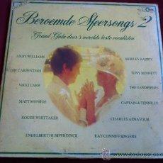 Discos de vinilo: BEROEMDE SPEERSONGS 2 . VARIOS . 2 LP . CIRCLE RECORDS HOLLAND 1980. Lote 29456698