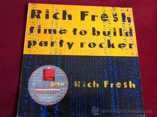 RICH FRESH - TIME TO BUILT . MAXI SINGLE . CITY BEAT RECORDS UK 1988 (Música - Discos de Vinilo - Maxi Singles - Rap / Hip Hop)
