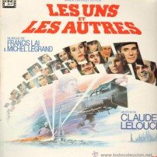 Discos de vinilo: FRANCIS LAI & MICHEL LEGRAND - LES UNS ET LES AUTRES. CLAUDE LELOUCH - DOBLE LP 1981 - PORTADA DOBLE. Lote 29465869