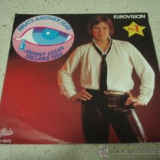 Discos de vinilo: JOHNNY LOGAN 'IRELAND 1980' Nº1 EUROVISION ( WHAT'S ANOTHER YEAR - ONE NIGHT STAND ) 1980-HOLANDA. Lote 29473839