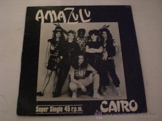 AMAZULU, CAIRO VERS. REGGAE MAXI HISPA, 1983, SEMINUEVO (Música - Discos de Vinilo - Maxi Singles - Reggae - Ska)