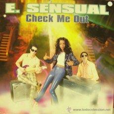 Discos de vinilo: E. SENSUAL-CHECK ME OUT MAXI SINGLE 1996 SPAIN. Lote 29487586