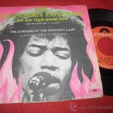 Discos de vinilo: THE JIMI HENDRIX EXPERIENCE LET ME LIGHT/THE BURNING OF THE MIDNIGHT LAMP 7