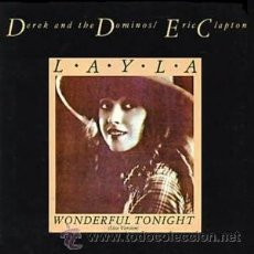 Discos de vinil: DEREK & THE DOMINOS - ERIC CLAPTON - LAYLA / WONDERFUL TONIGHT LIVE - MAXI 45RPM 1982-IMPECABLE. Lote 29502173