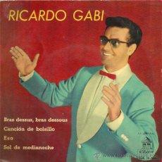Discos de vinilo: RICARDO GABI EP SELLO ODEON AÑO 1960 EDITADO EN ESPAÑA . Lote 29507764