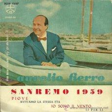 Discos de vinilo: AURELIO FIERRO EP SELLO DURIUM AÑO 1959 EDICCIÓN ESPAÑOLA.. Lote 29508595