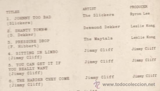 Discos de vinilo: LP BANDA SONORA : JIMMY CLIFF - THEY HARDER THEY COME - Foto 3 - 29520350