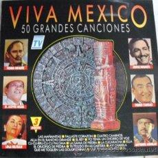 Discos de vinilo: TRIPLE DISCO LP DE VINILO VIVA MEXICO 50 GRANDES CANCIONES, EDITADO POR DIVUCSA EN 1991. Lote 29531950
