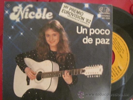 NICOLE - UN POCO DE PAZ - EUROVISION 1982 ALEMANIA (Música - Discos - Singles Vinilo - Festival de Eurovisión)