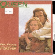 Vinyl records - QUEEN - WHO WANTS TO LIVE FOREVER / KILLER QUEEN (45 RPM) EMI 1986 - PROMO! - EX/EX - 29539387