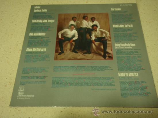 Discos de vinilo: THE TEMPTATIONS ' SURFACE THRILLS ' 1983 - GERMANY LP33 MOTOWN RECORDS - Foto 2 - 29569331