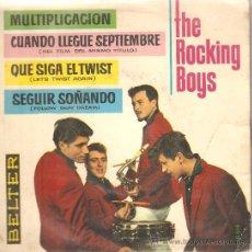Discos de vinilo: EP THE ROCKINH BOYS - MULTIPLICACION + 3 (INCLUYE 2 TEMAS COMPUESTOS POR BOBBY DARIN ). Lote 29575237