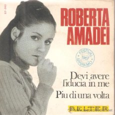 Discos de vinilo: EP ROBERTA AMADEI - DEVI AVERE FIDUCIA IN ME (SAN REMO 1967). Lote 29575627