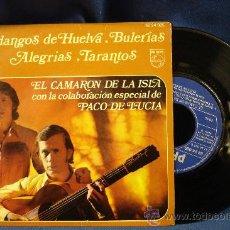 Discos de vinilo: - EL CAMARON DE LA ISLA CON PACO DE LUCIA - LLORANDO ME LO PEDIA + 3 - PHILIPS 1970. Lote 29662359