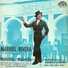 Discos de vinilo: MARIBEL RIVERA EP SELLO BERTA AÑO 1965 EDICCIÓN ESPAÑOLA. Lote 29584157