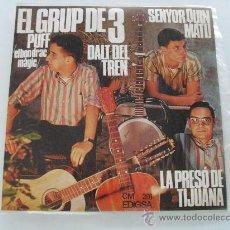 Discos de vinilo: EL GRUP DE 3 - DALT DEL TREN + 3 EP 1967. Lote 29585448