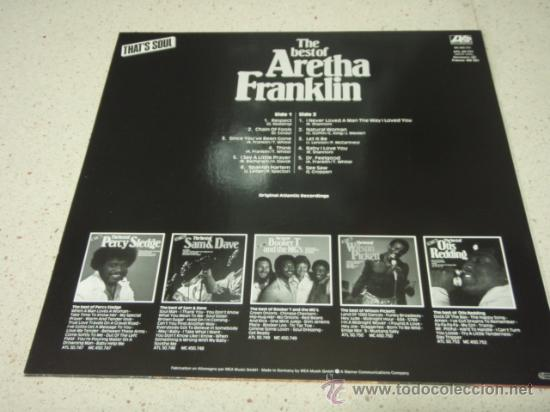 Discos de vinilo: Aretha Franklin ?– The Best Of Aretha Franklin, Germany 1980 Atlantic - Foto 2 - 29591933