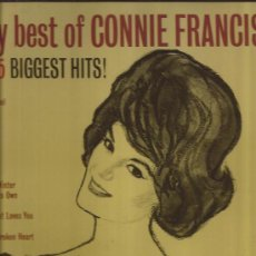 Discos de vinilo: LP-CONNIE FRANCIS-CONNIE´S 15 BIGGEST HITS-POLYDOR-REDICION-. Lote 29598764