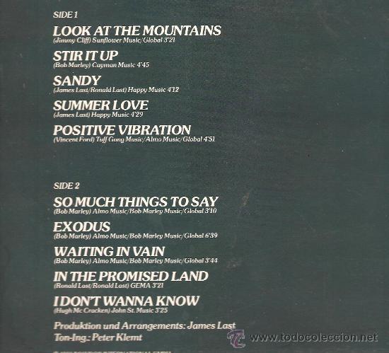 Discos de vinilo: LP JAMES LAST - CARIBBEAN NIGHTS (REGGAE DE BOB MARLEY, JIMMY CLIFF, ETC ) - Foto 2 - 29599112
