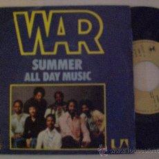 Discos de vinilo: WAR, SUMMER ALL DAY MUSIC, SINGLE ARIOLA ESPAÑA, 1976 SEMINUEVO OFERTA. Lote 29599873
