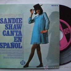 Discos de vinilo: SANDIE SHAW, EN ESPAÑOL, MARIONETAS EN LA CUERDA, EP. ESPAÑA EUROVISION 1967,. Lote 29600124