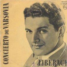 Discos de vinilo: LIBERACE - WARSAW CONCERTO - EP MUY RARO ESPAÑOL DE VINILO - PHILIPS 1959. Lote 29661165