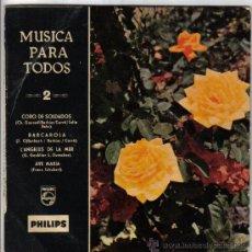 Discos de vinilo: SINGLE MUSICA PARA TODOS AÑO 1959 PHILIPS. Lote 29669691