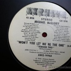 Discos de vinilo: MICHAEL MCGLOIRY . WON´T YOU LET ME BE THE ONE . MAXI SINGLE . AIRWAVE RECORDS USA 1980. Lote 29676017