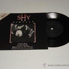 Discos de vinilo: SHY / BREAK DOWN THE WALLS - EXCESS ALL AREAS - RARO EP 3 TEMAS MADE IN ENGLAND 1987 - PROMO!!. Lote 29679921