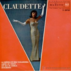 Discos de vinilo: CLAUDETTE - LA SEÑORA ES UNA VAGABUNDA - SCOUBIDOU + 2 - EP 1964 - EX / EX. Lote 29683099