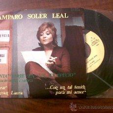 Discos de vinilo: SINGLE AMPARO SOLER LEAL-VIAJE EN UN TRAPECIO-PALOBAL 1971-. Lote 29684683