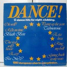 Discos de vinilo: VARIOS (TECHNOTRONIC, ICE M.C ...) - DANCE! 12 DANCE HITS FOR NIGHT-CLUBBING - LP CLEVER 1990 BPY. Lote 29736994