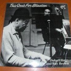 Discos de vinilo: LP - DUKE ELLINGTON & RAY BROWN - THIS ONE'S FOR BLANTON - PABLO 1973 - PN 4010 9. Lote 31282775
