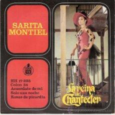 Discos de vinilo: SARITA MONTIEL - COLON 34 + 3(EP DE 4 CANCIONES) HISPAVOX 1963 - EX/VG++. Lote 29718674